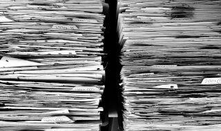 Stacks of file folders.