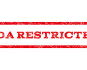 """FDA Restricted"" red text"