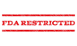 """""""FDA Restricted"""" red text"""